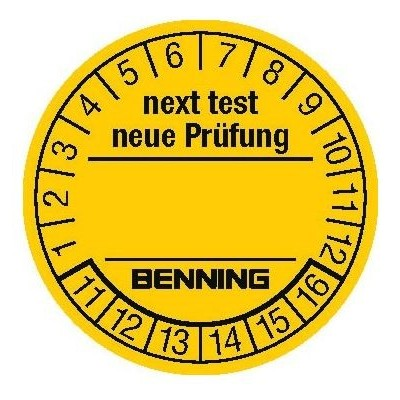 BENNING Prüfplaketten/ test badges (300 St./ pcs.)